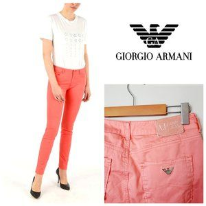 GIORGIO ARMANI Luxury Coral Skinny Jeans
